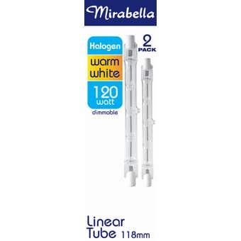 Mirabella Eco Halogen Linear globe 120W Warm White 118mm - 2 Pack