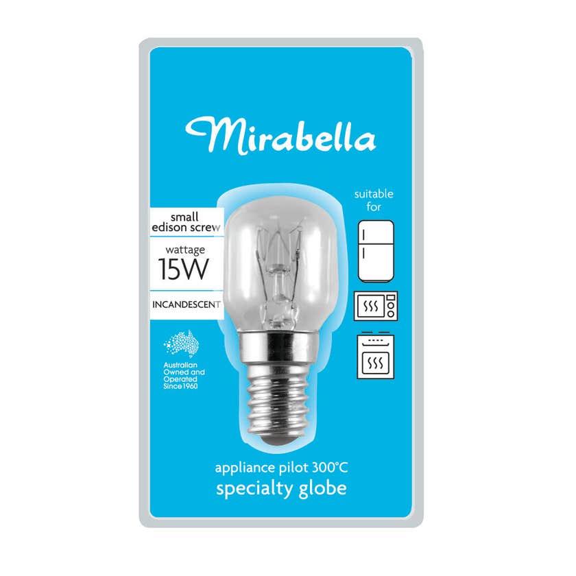 Mirabella Appliance Pilot Globe Clear 15W SES
