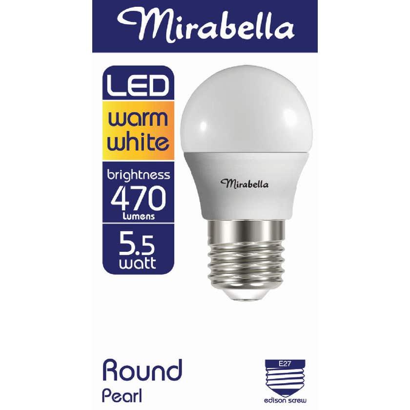 Mirabella LED Fancy Round Globe 5.5W ES Warm White