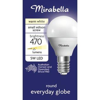 Mirabella LED Fancy Round Globe 5.5W SES Warm White