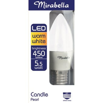 Mirabella LED Candle Globe 5.5W ES Warm White