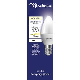 Mirabella LED Candle Globe 5.5W SES Warm White
