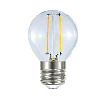 Mirabella LED Filament Round Globe 2W ES Warm White