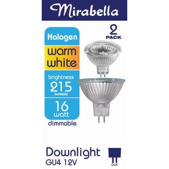 Mirabella Halogen GU4 Downlight 16W Warm White - 2 Pack