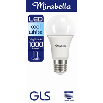 Mirabella LED GLS Globe 11W ES Cool White