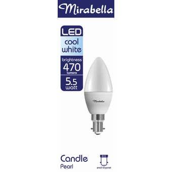 Mirabella LED Candle Globe 5.5W SBC Cool White