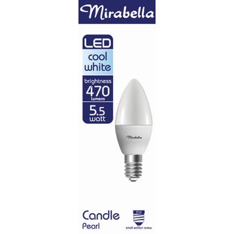 Mirabella LED Candle Globe 5.5W SES Cool White