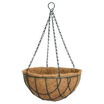 Lattice Wire Hanging Basket Green 40cm