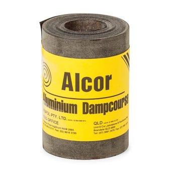 Alcor DPC Bitumen Coated Aluminium 150mm x 10m