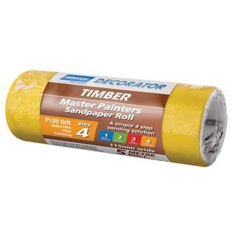 Norton Painters Sandpaper Roll P120 Grit 115mm x 5m