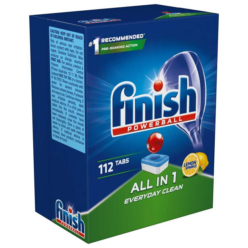 Finish All In 1 Dishwashing Tablets - 112 Pack