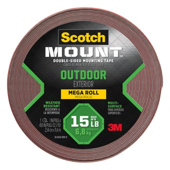 Scotch-Mount Outdoor Double-Sided Mounting Tape 254mm x 11.4m