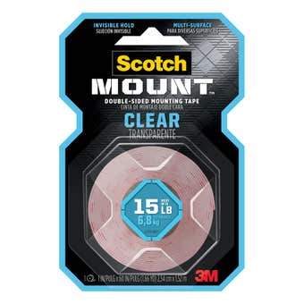 Scotch-Mount Clear Double-Sided Mounting Tape 254mm x 1.52m