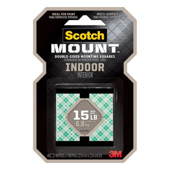 Scotch-Mount Indoor Double-Sided Mounting Squares 254mm x 254mm - 48 Pack