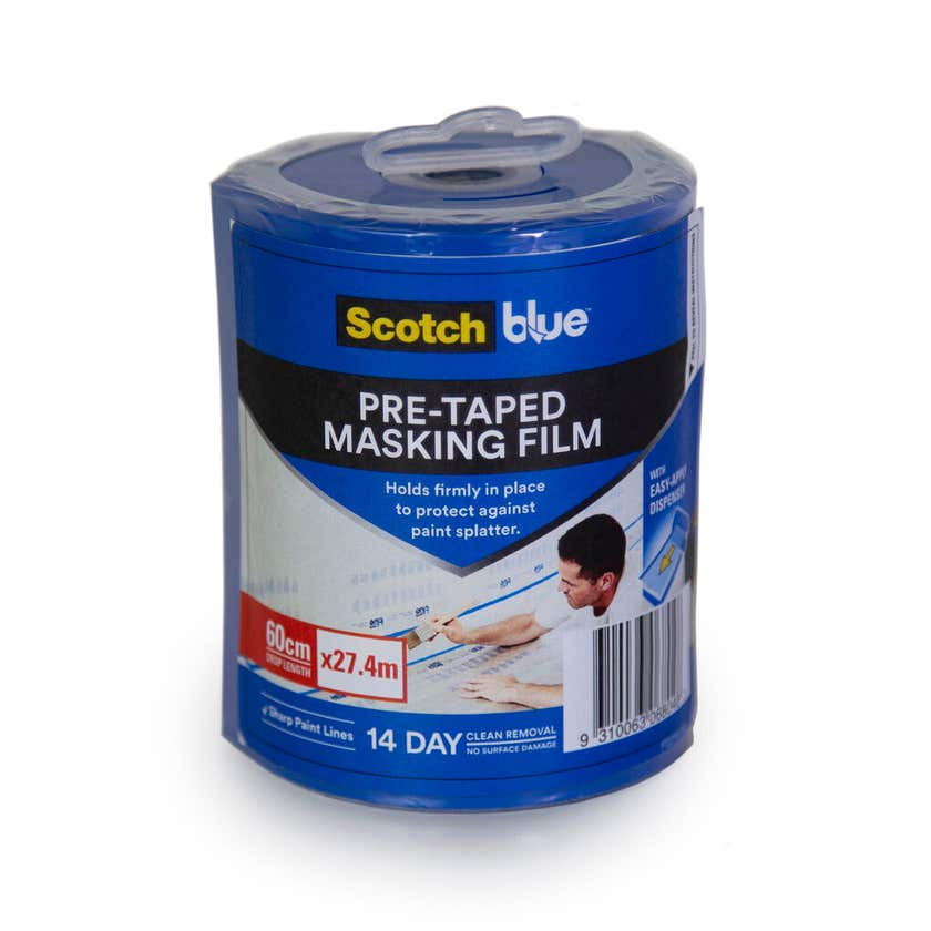 Scotch Blue Pre-Taped Masking Film 60cm x 27.4m