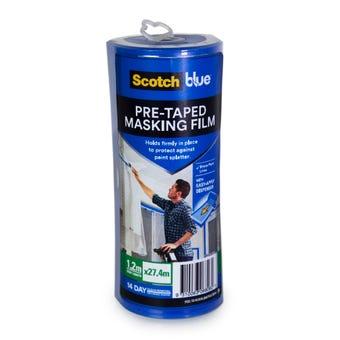 Scotch Blue Pre-Taped Masking Film 1.2 x 27.4m