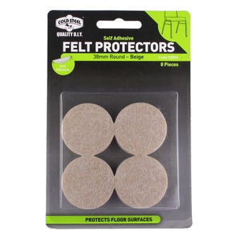 Cold Steel Felt Protectors Round Beige 38mm - 8 Pack