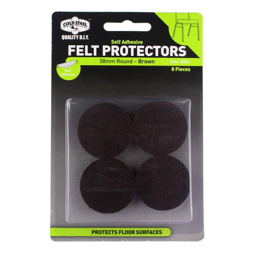 Cold Steel Felt Protectors Round Brown 38mm - 8 Pack