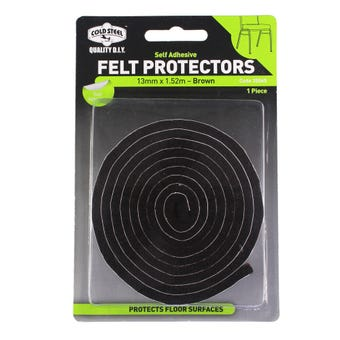Cold Steel Felt Protectors Strip Brown 13mm x 1.52m