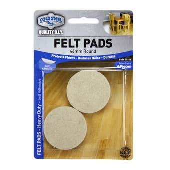 Cold Steel Felt Pads Round Heavy Duty Beige 46mm - 4 Pack