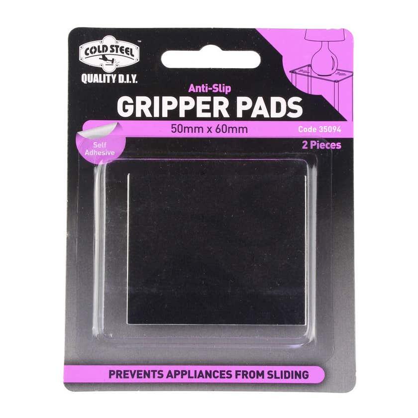 Cold Steel Gripper Pads Anti Slip Rubber Black 50 x 60mm - 2 Pack