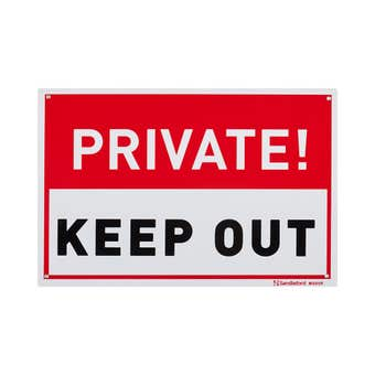 Sandleford Private Keep Out Sign Medium