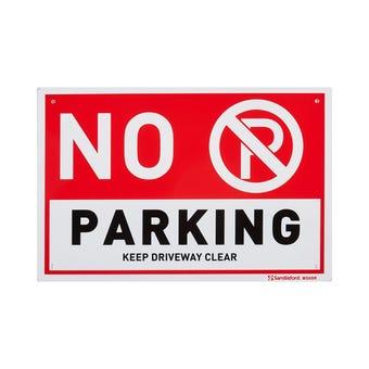 Sandleford No Parking Sign
