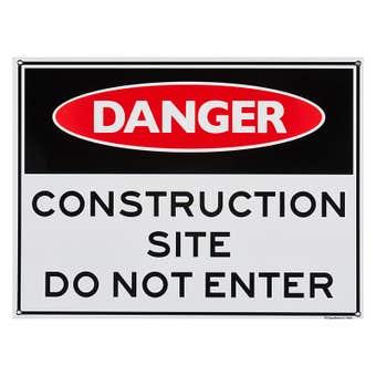 Sandleford Danger Construction Site Sign Large
