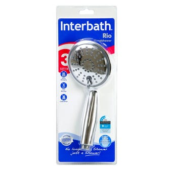 Interbath Rio 3 Function Hand Shower Chrome