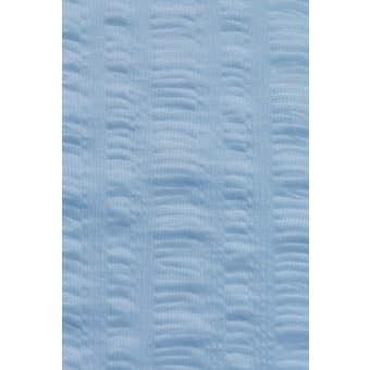 Supertex Seersuck Polyester Shower Curtain Blue