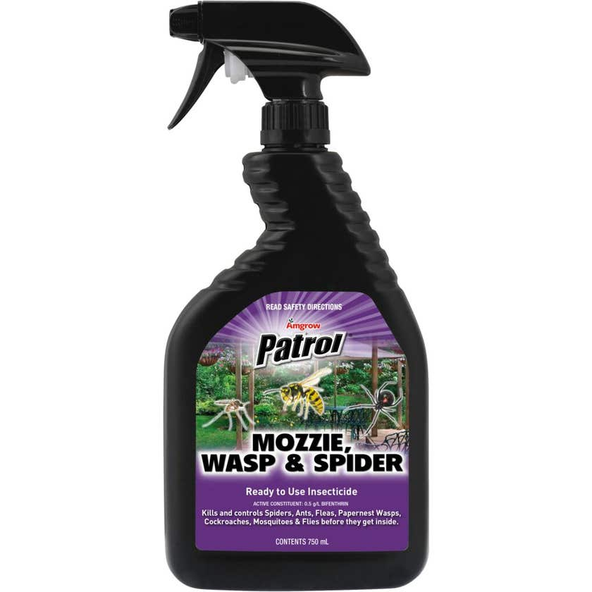 Amgrow Patrol Insecticide Mozzie/Wasp/Spider 750ml