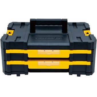 DeWALT TStak IV Double Drawer Storage Box with Adjustable Dividers