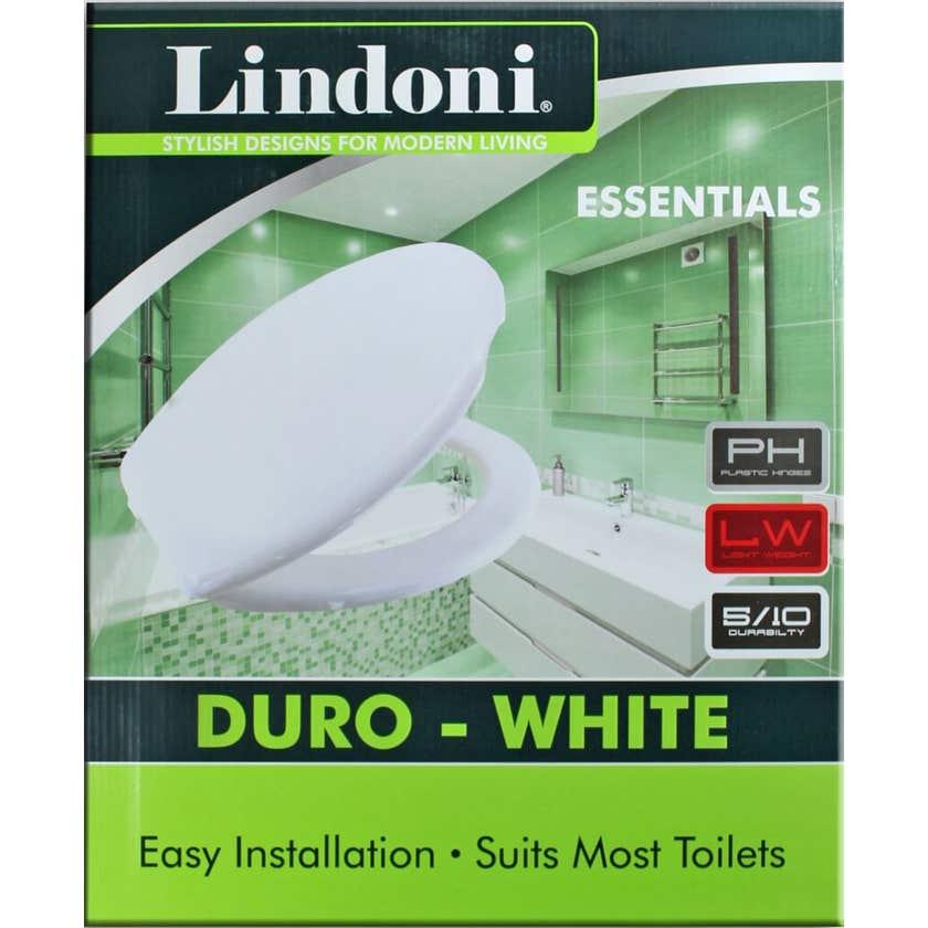 Lindoni Duro Toilet Seat White