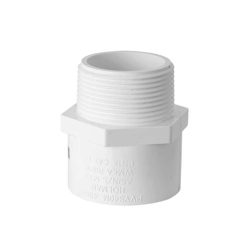 "Holman PVC Pressure Socket Valve 40mm x 1 1/2"""