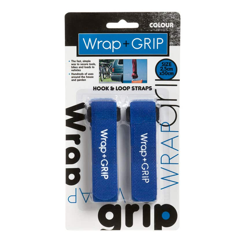 Trio Wrap + Grip Hook and Loop Straps  2.5 x 50cm - 2 Pack
