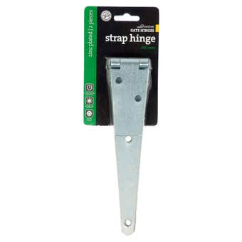 Trio Strap Hinge Zinc Plated 200mm - 2 Pack