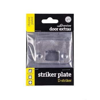 Trio D Striker Plate Chrome Plated 57 x 44mm