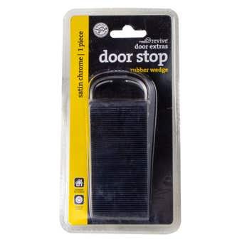 Trio Rubber Wedge Doorstop Black 125mm