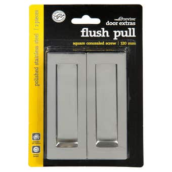 Trio Door Flush Pull Polished Stainless Steal 120mm