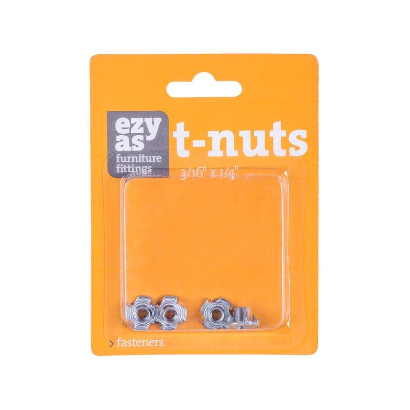 "Trio Ezyas T-Nuts 1/4"" x 3/16"" - 4 Pack"