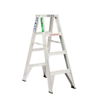 Bailey Trade Aluminium Double Sided Ladder 1.2m 150kg Industrial