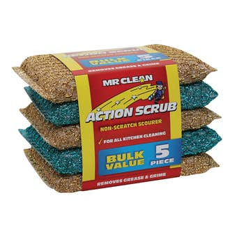 Mr Clean Action Scrub - 5 Pack