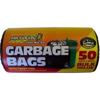 Mr Clean Garbage Bag 5L - 50 Pack