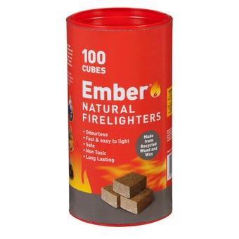 Ember Wooden Firelighters Tube 100 pack