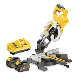 DeWALT 54V 6.0Ah Mitre Saw 216mm Kit DCS777T2-XE