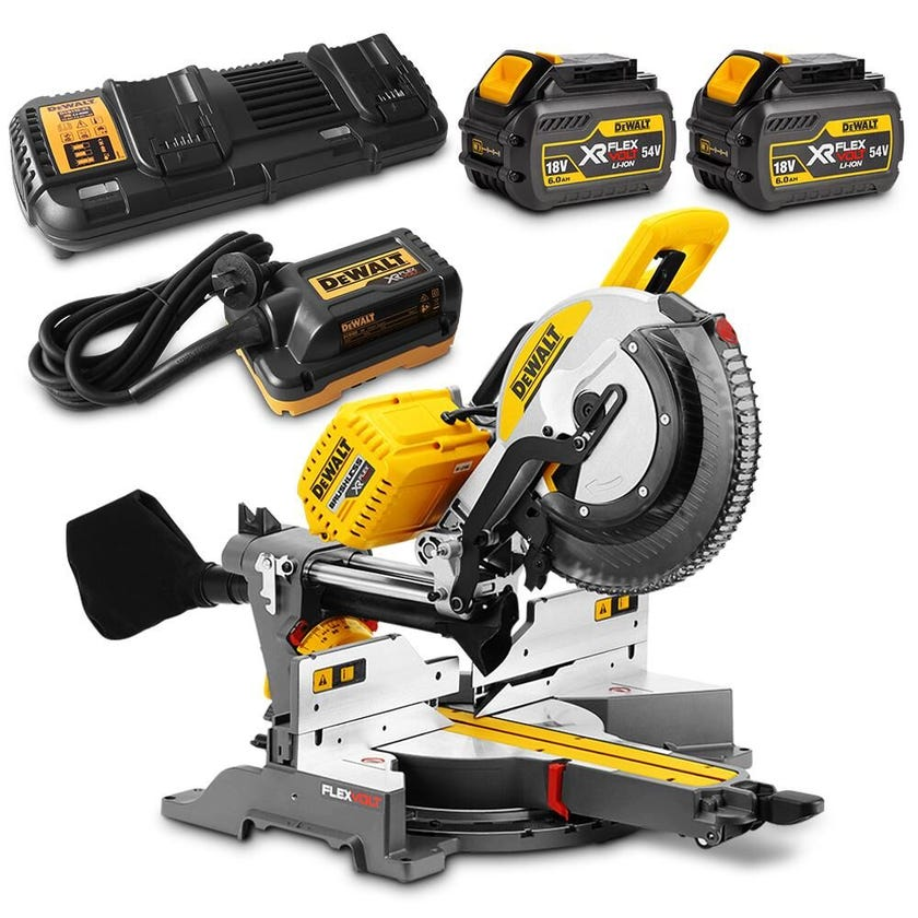 DeWALT 54V Brushless Slide Mitre Saw Kit DHS780T2A-XE