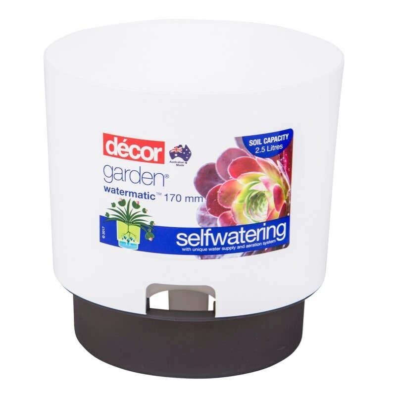 Decor Watermatic Self Watering Pot White 170mm