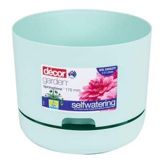 Decor Garden Springtime Self Watering Pot Mint 170mm