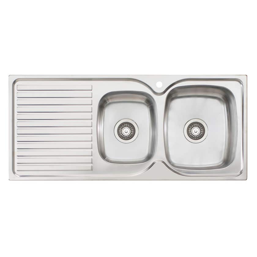 Endeavour 1 Tap Hole Right Hand 1 & 3/4 Bowl Sink with Drainer
