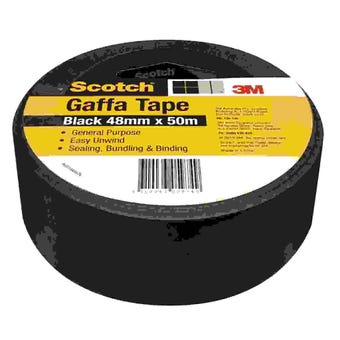Scotch Gaffa Tape Black 48mm x 50m